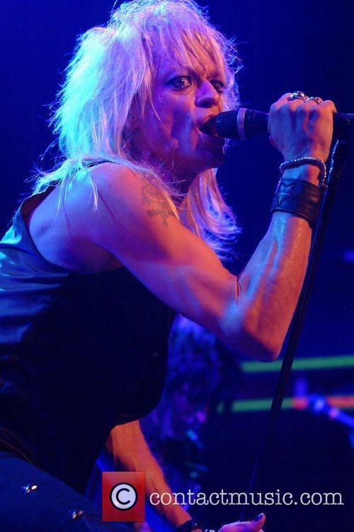 Finnish rock musician Michael Monroe  performing at...