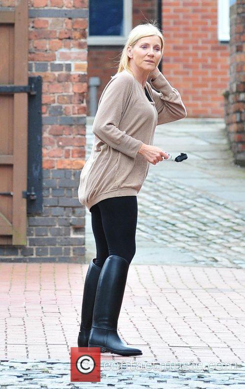 Michelle Collins outside Granada Studios.  Manchester, England