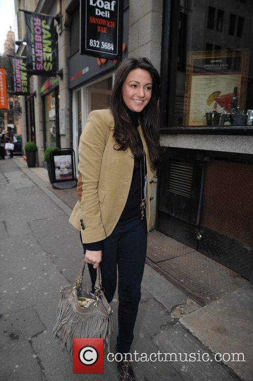 Michelle Keegan  leaves Robert James hair salon...