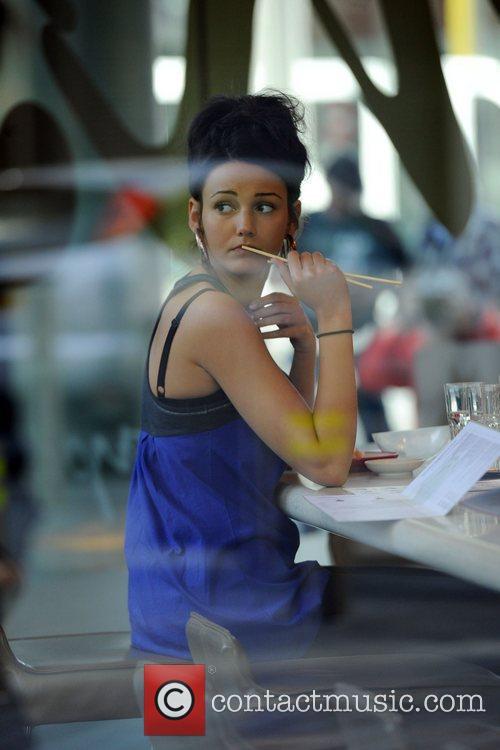 Michelle Keegan  has lunch at Samsi Restaurant...
