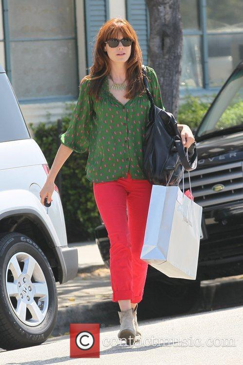 Actress shopping in West Hollywood showing off her...