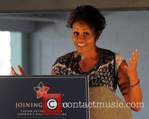 First Lady Michelle Obama appears at the Ford...