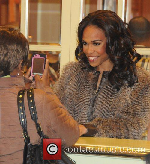 Singer Michelle Williams attends a signing for David...