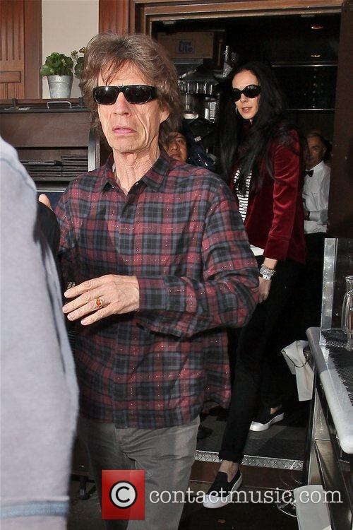 Mick Jagger and L'wren Scott 3