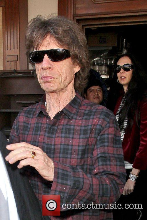 Mick Jagger and L'wren Scott 4
