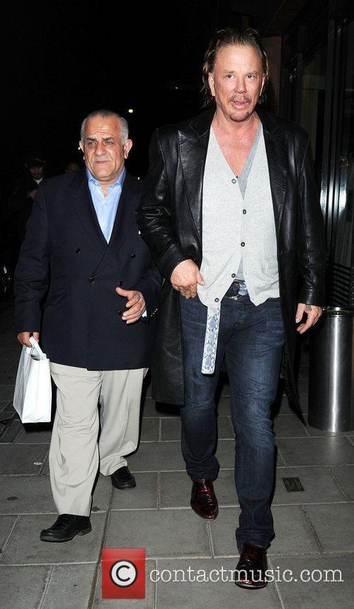 Mickey Rourke leaves C restaurant London, England