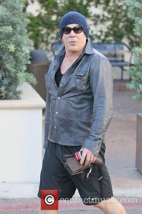 Mickey Rourke leaving Cafe Roma in Beverly Hills...