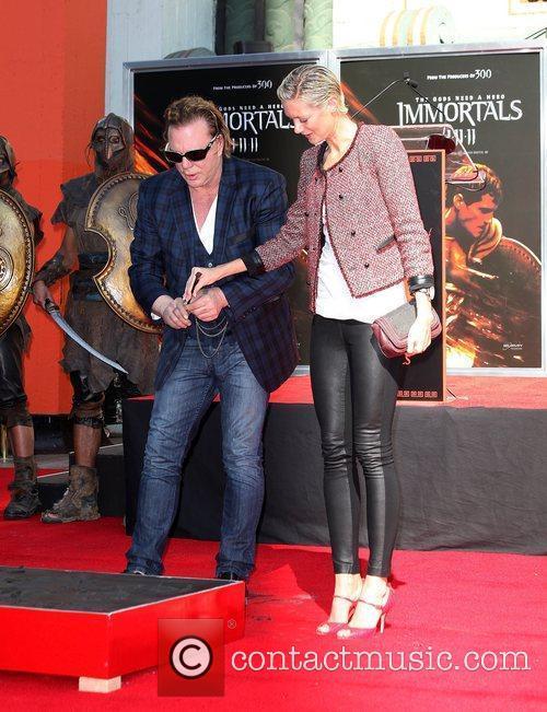 Actor Mickey Rourke and girlfriend Anastassija Makarenko Mickey...