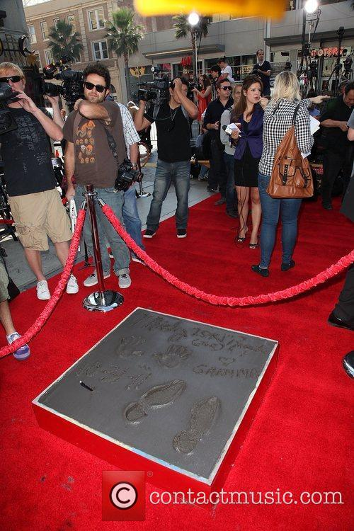 Atmopshere Mickey Rourke is honoured with a Hand...