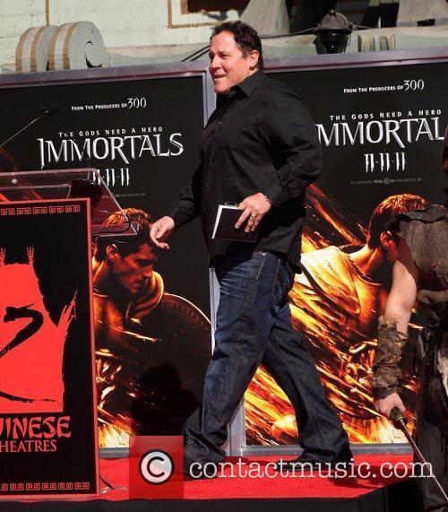 Jon Favreau at the Hand and Footprint Ceremony...