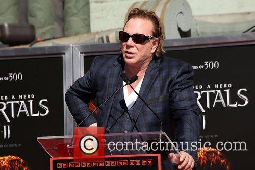 Mickey Rourke is honoured with a Hand and...