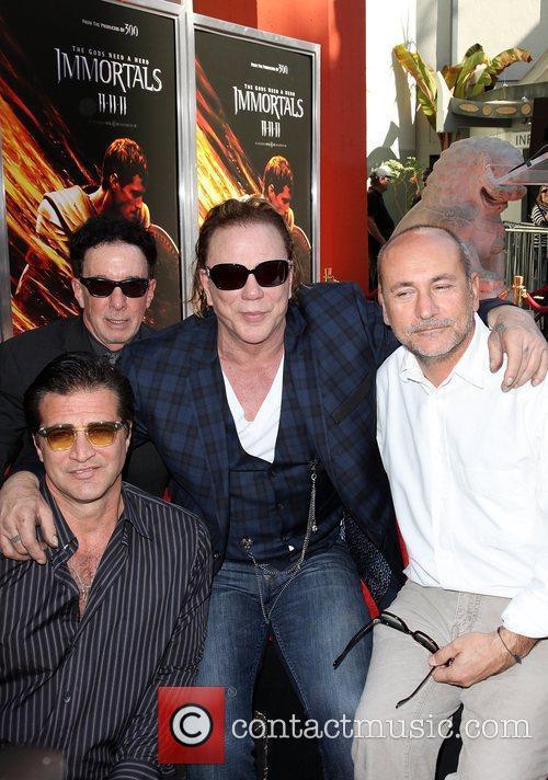 Mickey Rourke, John Enos and friends Mickey Rourke...
