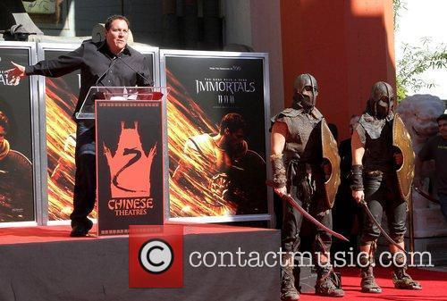Jon Favreau  speaking at the Hand and...