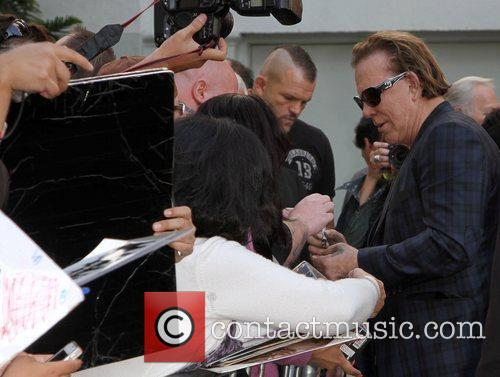 Mickey Rourke meeting with fans Mickey Rourke is...