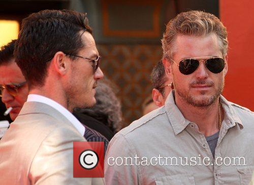 Luke Evans and Eric Dane at the Hand...
