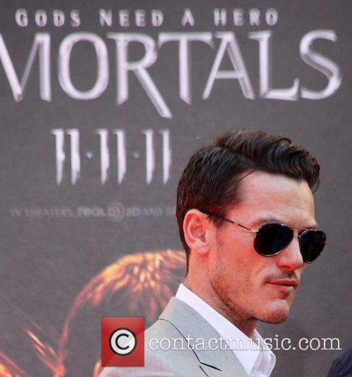 Luke Evans at the Hand and Footprint Ceremony...