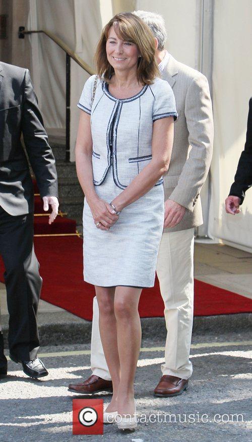 Carole Middleton  leaving the Goring Hotel...