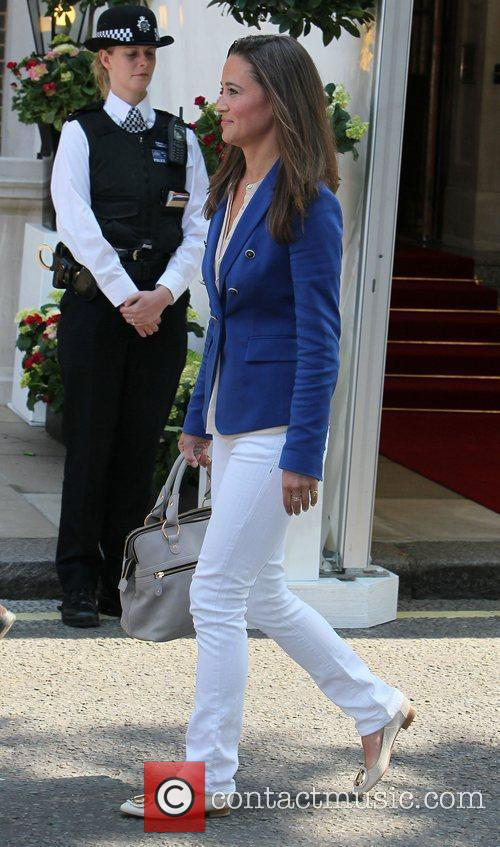 Pippa Middleton  leaving the Goring Hotel...