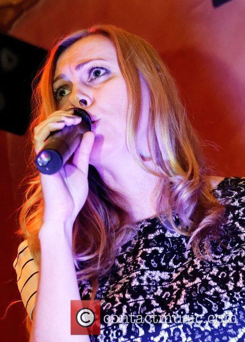 London based Russian singer Marina Lazlo performs live...