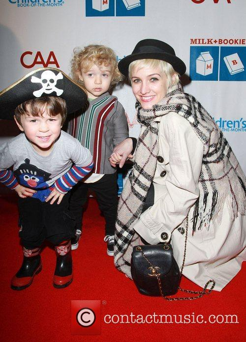 Ashlee Simpson, Bronx Wentz and Friend at the...