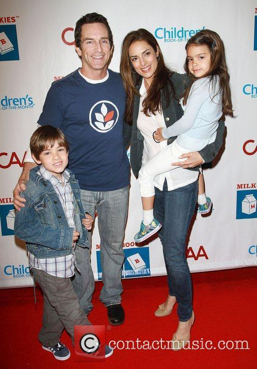 Jeff Probst, Lisa Russell and family at the...