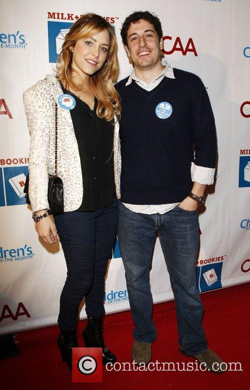 Jason Biggs and wife Jenny Mollen  at...