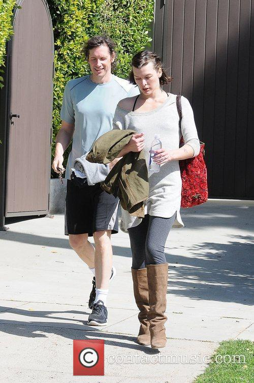 Milla Jovovich leaving her gym in West Hollywood...