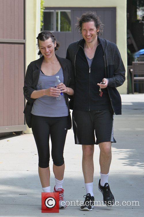 Milla Jovovich and her husband seem in good...