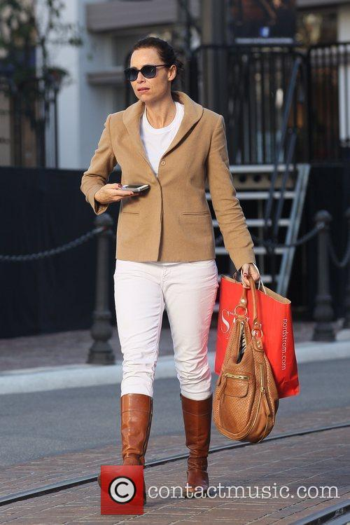 Minnie Driver out shopping at The Grove with...