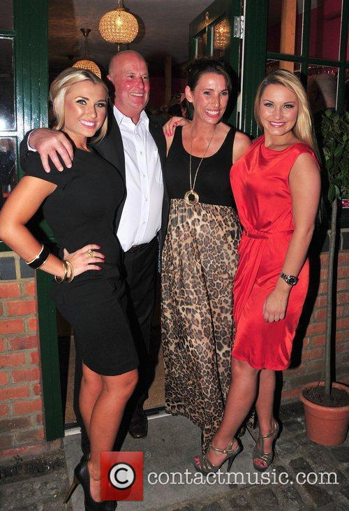 Billie Faiers and Sam Faiers with their parents,...