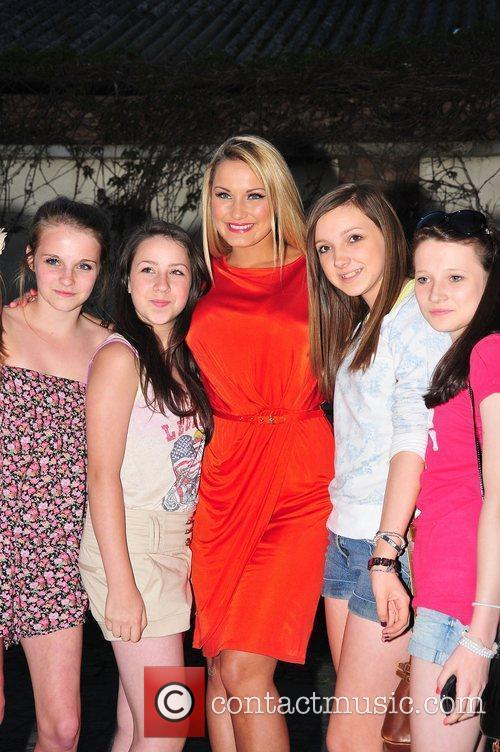 Sam Faiers and fans,  at Minnies Boutique...