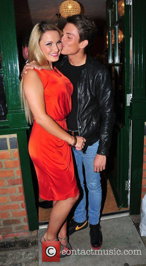 Sam Faiers and Joey Essex,  at Minnies...