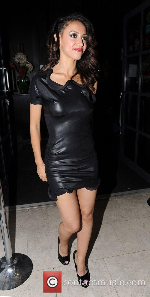 Amelle Berrabah of the Sugababes leaves the Mint...