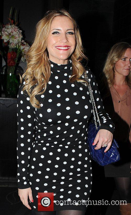 Heidi Range of the Sugababes leaves the Mint...
