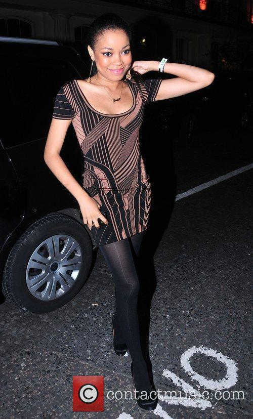 Dionne Bromfield   arriving at the Mint...