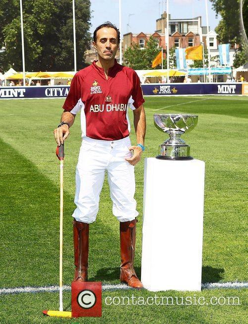 Abu Dhabi team member at the Mint Polo...