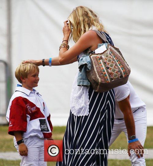 Jodie Kidd and her nephew Jaime MINT Polo...