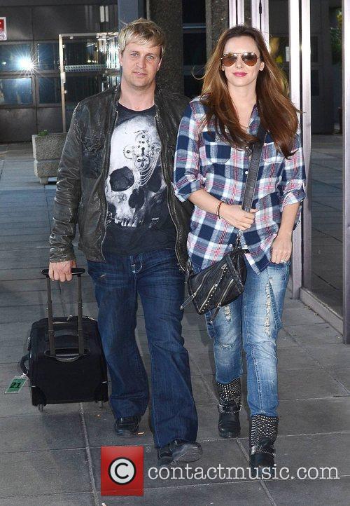 Kian Egan and Jodi Albert Celebrities arriving for...