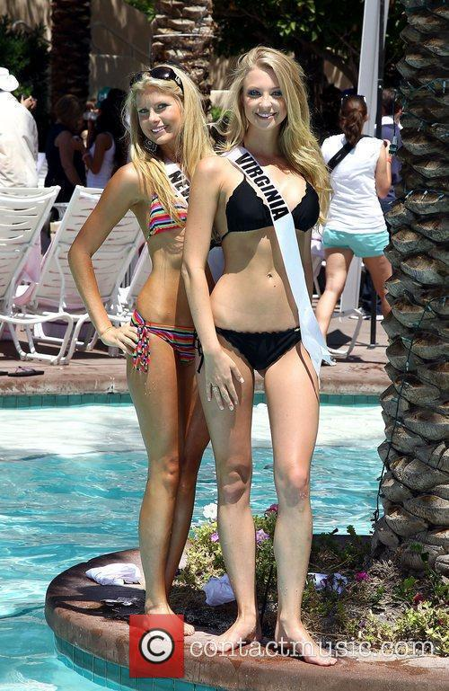 Miss California USA Alyssa Campanella and Miss Virginia...