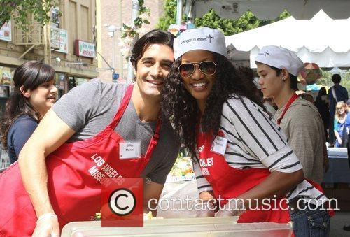 Gilles Marini, Garcelle Beauvais Los Angeles Mission Easter...