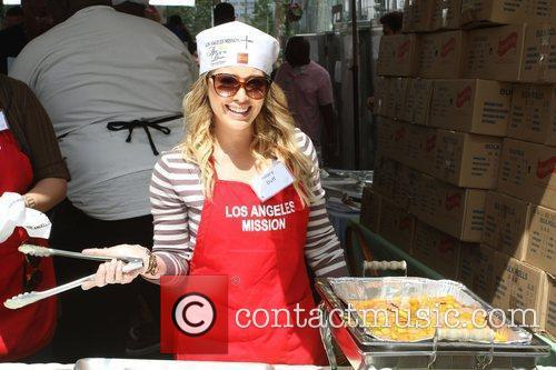 Hilary Duff Los Angeles Mission Easter for the...
