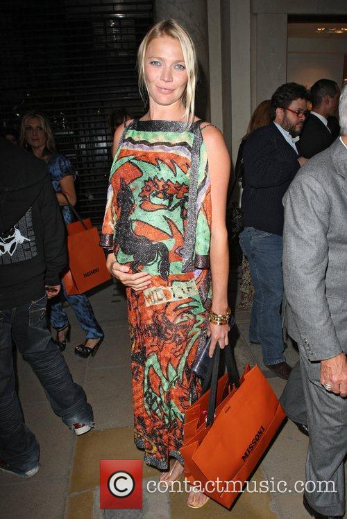 A pregnant Jodie Kidd celebrities attending the Missoni...