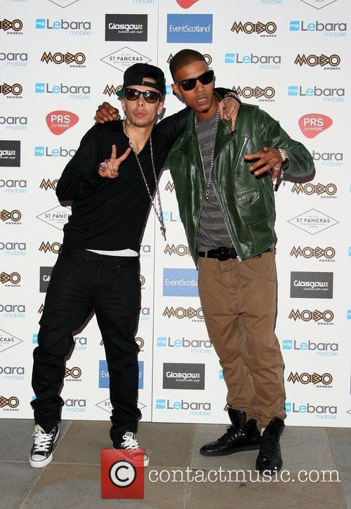 Dappy and Fazer of N-Dubz The MOBO Awards...
