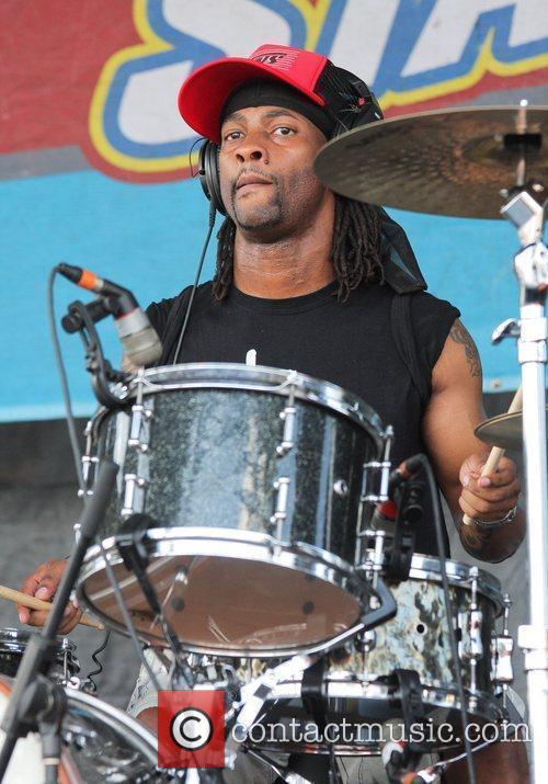 Mojo Morgan performs during the 2011 Vans Warped...