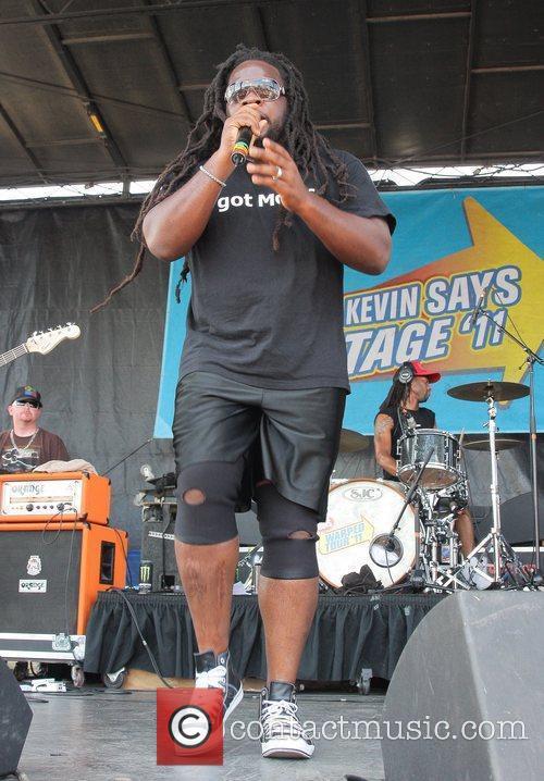 Mojo Morgan performs during the 2011 Vans Warped...