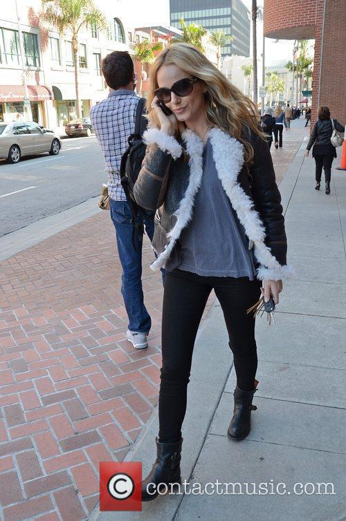 Monet Mazur out in Beverly Hills Los Angeles,...