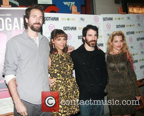 Dana Adam Shapiro, Chris Messina and Rashida Jones