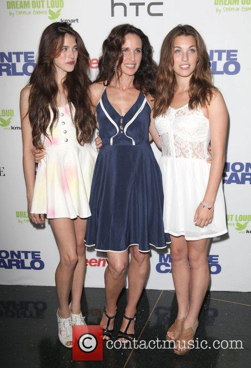 Sarah Margaret Qualley, actress Andie MacDowell, and Rainey...