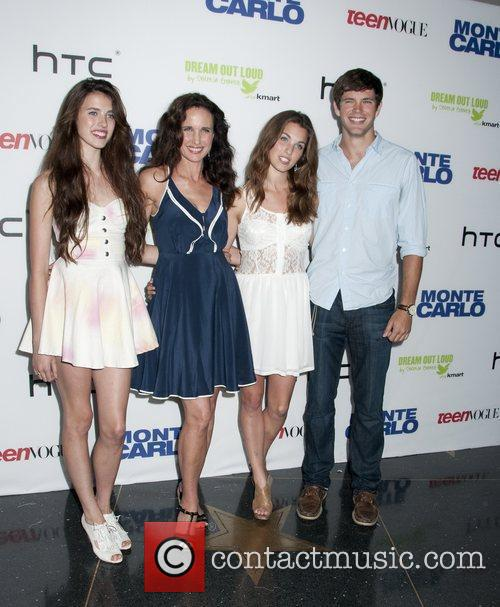 Rainey Qualley, Sarah Qualley, Andie MacDowell and Justin...
