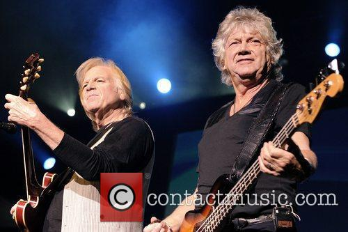 The Moody Blues perform on stage at the...